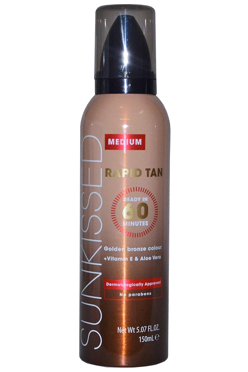 Sunkissed Rapid Tan Mousse 5.1oz (150ml) Medium by Sunkissed 26064