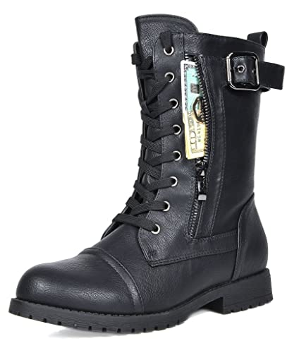 later hot-selling genuine choose original DREAM PAIRS Women's Winter Lace up Mid Calf Combat Boots
