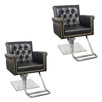 amazon com salon chair with nail head tufting winston 2 chair rh amazon com