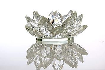 Ø10 cm Seerose aus Kristallglas Kerzeständer