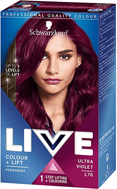 Tinte Schwarzkopf LIVE Color XXL Luminance L76 Ultra violeta