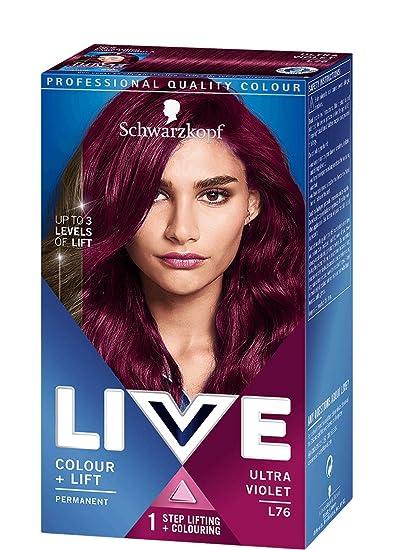 5a3228a0f5 Amazon.com : Schwarzkopf Live Color XXL Luminance L76 Ultra Violet Hair  Colour : Beauty