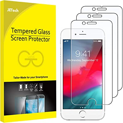 JETech Protector de Pantalla Compatible Apple iPhone SE 2020, iPhone 8, iPhone 7, iPhone 6s, iPhone 6, Vidrio Templado, 3 Unidades