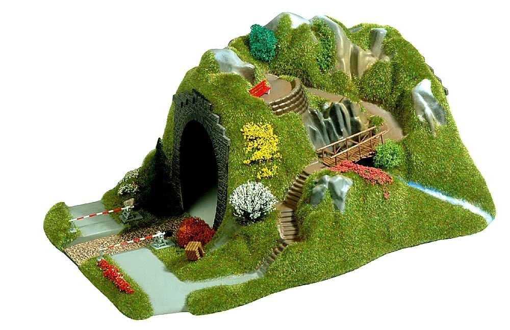 Busch 3018 Tunnel with RR Crossing HO Scenery Scale Model Scenery