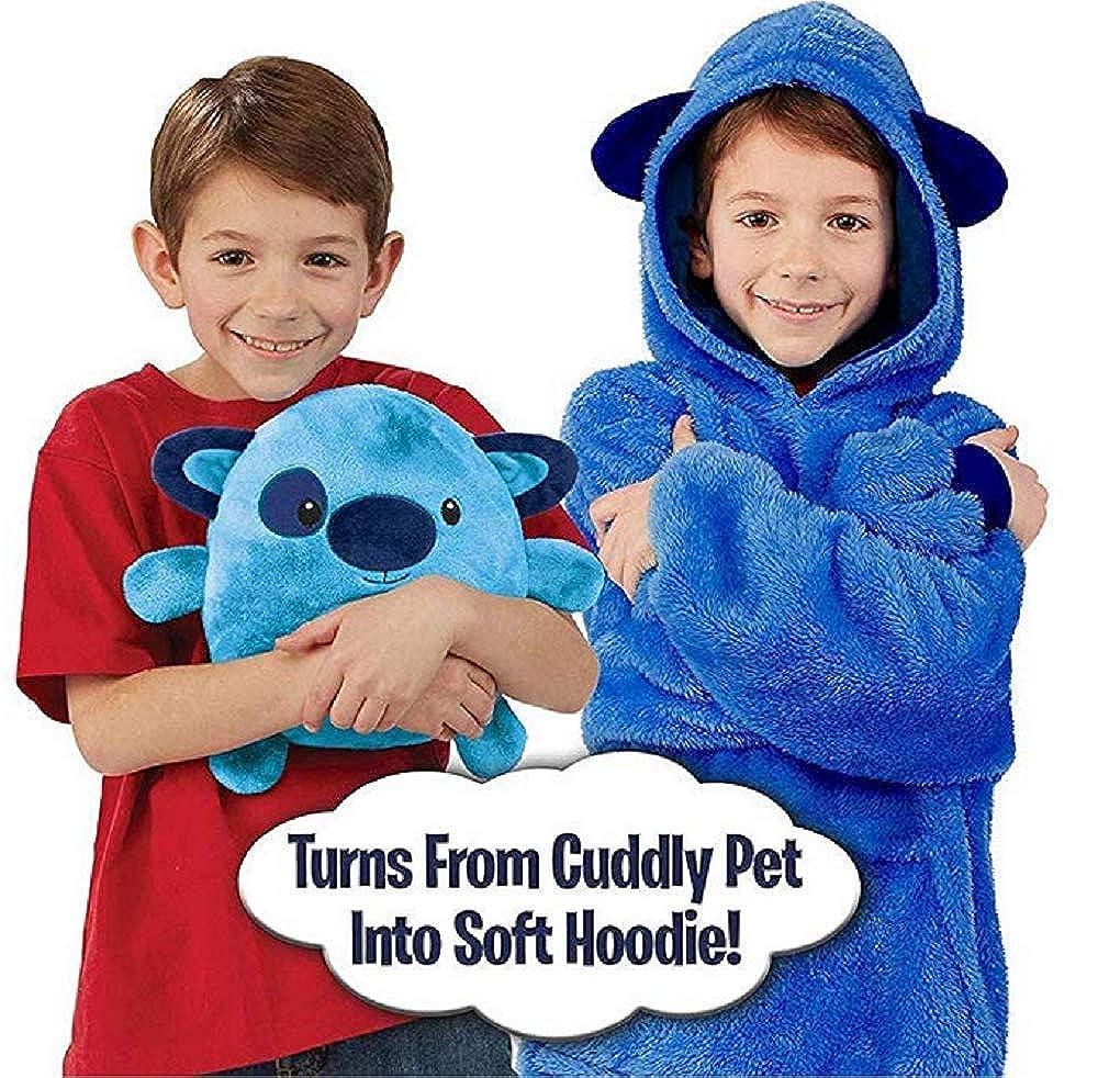 Haustier Geformt Huggle Hoodie Pullover Jumper Bademantel Pyjama Kissen Einheitsgr/ö/ße Decke Sweatshirt f/ür Kinder Tragbare Sherpa Hoodie mit Riesigen Tasche