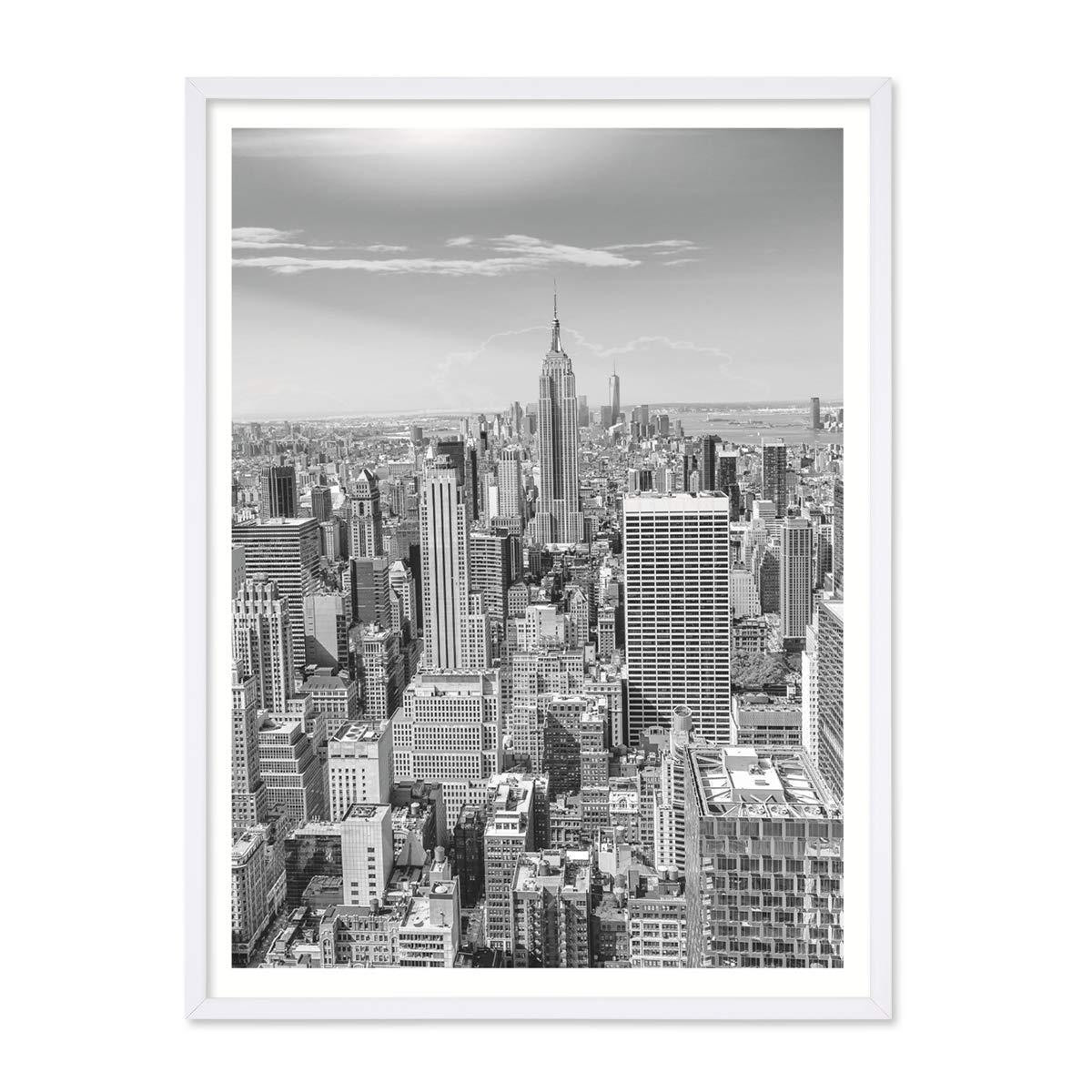 PHOTOLINI Poster mit Bilderrahmen Weiss \'New York City\' 30x40 cm ...