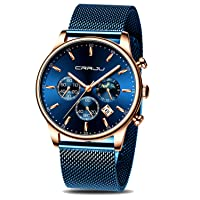 CRRJU Mens Auto Date Chronograph Watch