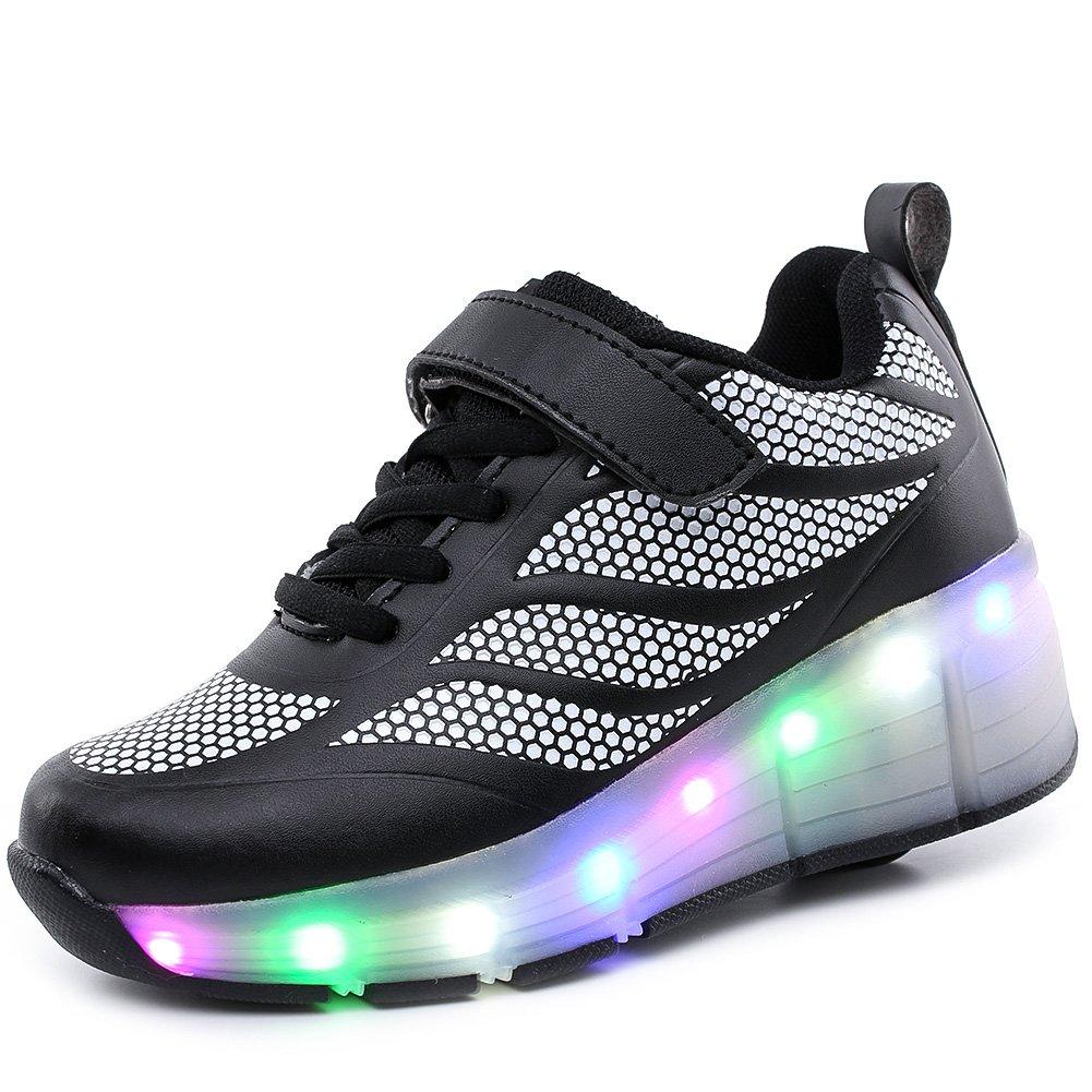 SIKAINI Enfants LED Chaussures Garçons Filles Skate Sneakers avec Rouleaux Chaussures de Sport Automatique …