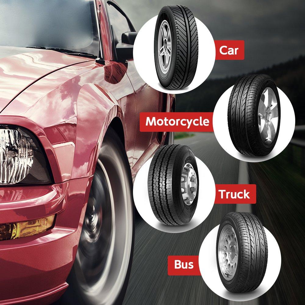 LOFTER Tire Pressure Gauge, Heavy Duty Dial Air Pressure Gauges 100PSI, 2 Units(PSI/BAR), High Accuracy Air Pressure Check, Premium No-leak Braided Air Hose, Best Bike, Cars, SUV, ATV, Motorcycle by LOFTER (Image #6)