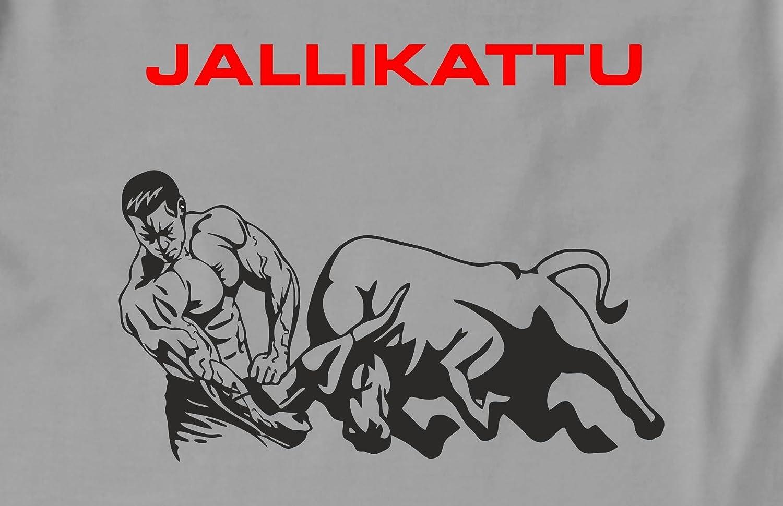 Rawpockets 100 Cotton Graphic Print Jallikattu T Shirt Amazon In