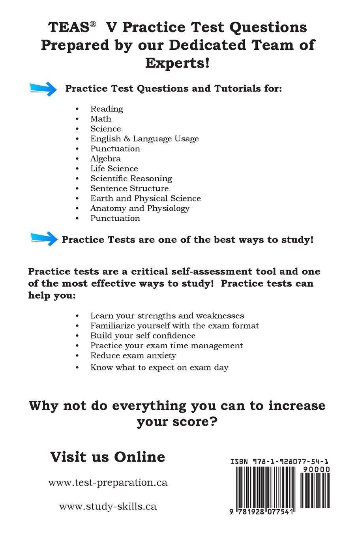 Practice the TEAS!: Test of Essential Academic Skills Practice Test ...