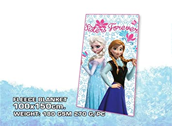 Disney Frozen Sisters Forever Fleece Decke Blau Amazon De Küche