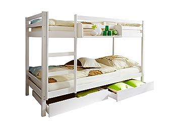 Etagenbett Kiefer Massiv : Ticaa etagenbett rene kiefer massiv weiß amazon küche haushalt
