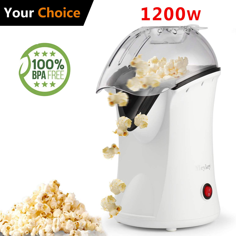 Hot Air Popcorn Maker Electric,Popcorn Machine,Popcorn Popper 1200W(US STOCK) (Black) Hopekings