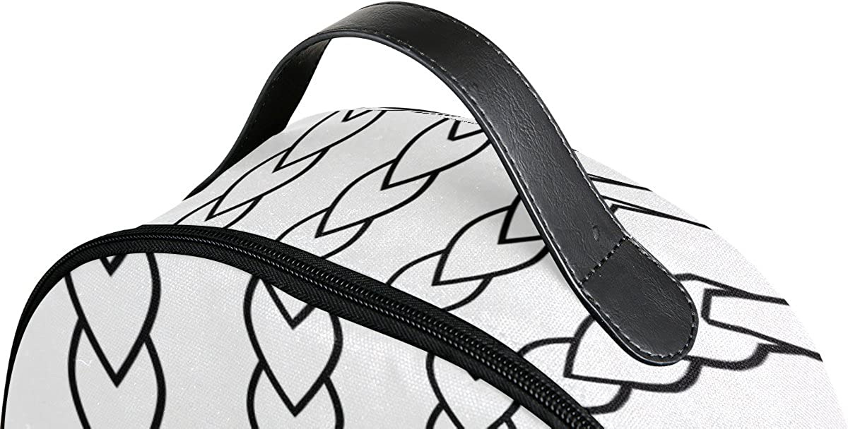 Mr.Weng Black And White Heart Chain Printed Canvas Backpack For Girl and Children