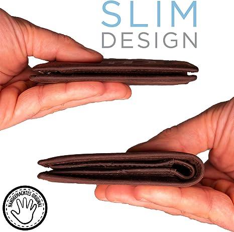 Bitcoin Wallet aus echtem Leder, das das Bitcoin-Logo in 3D enthält - Schlankes Design mit RFID-Schutz - Wallet, Geldbörse für kryptographische ...