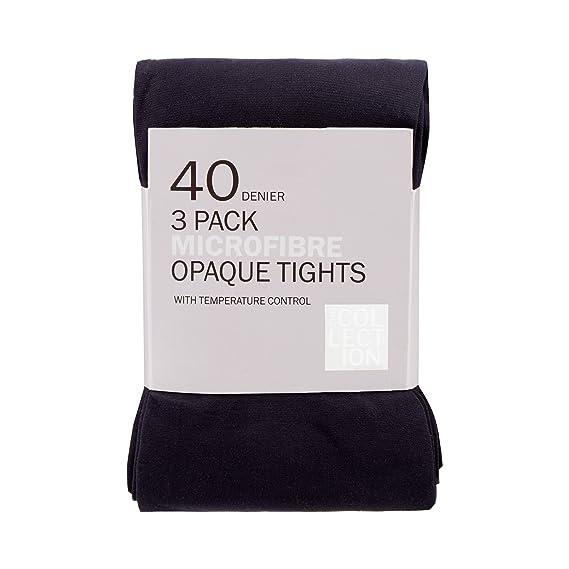 95ffd3e6902 Debenhams Womens Pack Of 3 Blue 40 Denier Opaque Microfibre Tights   Debenhams  Amazon.co.uk  Clothing