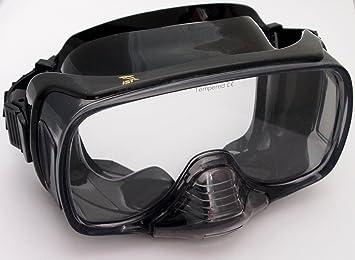 M de 12 Buceo Máscara Gafas de buceo con válvula de purga BS-Schwarz