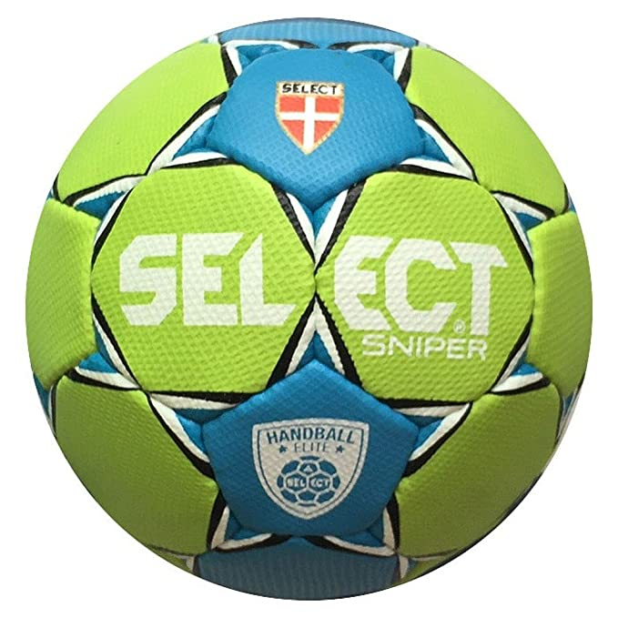 Balón de balonmano Select Elite Sniper verde-azul, Talla 1, para ...