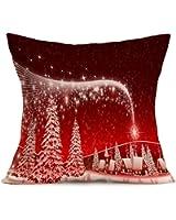 AIMTOPPY Christmas Tree Pillow Case Sofa Waist Throw Cushion Cover Home Decor