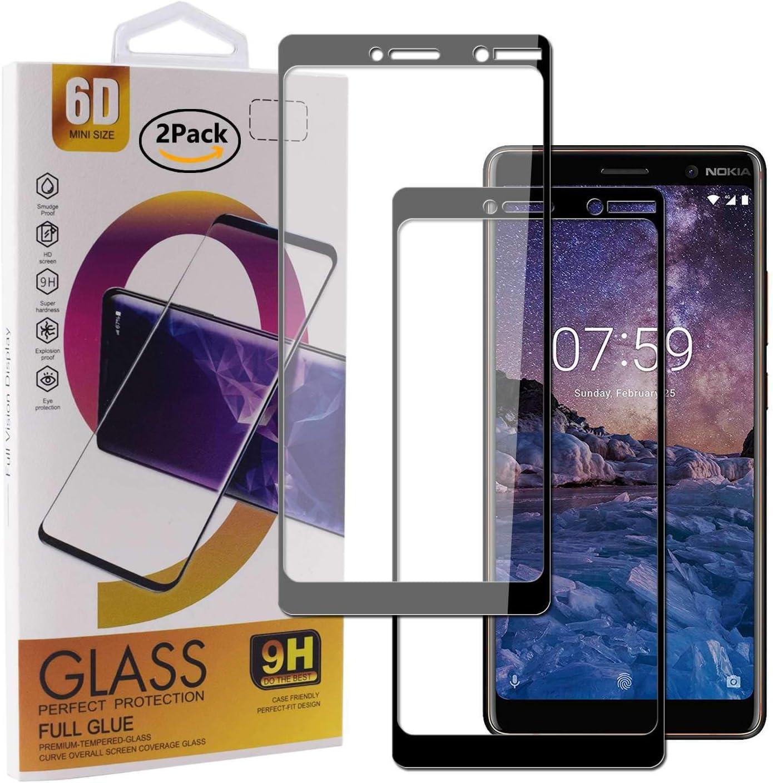 Guran [2 Paquete Protector de Pantalla para Nokia 7 Plus Smartphone Cobertura Completa Protección 9H Dureza Alta Definicion Vidrio Templado Película: Amazon.es: Electrónica