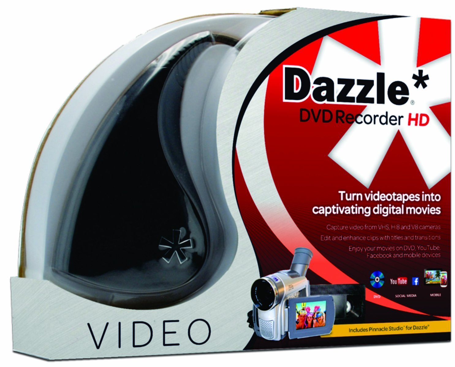 Dazzle DVD Recorder HD - Video Capture Card Device [PC Disc] by Pinnacle Systems
