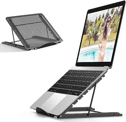 pliable et r/églable Compact et l/éger ajustement universel Noir Support ergonomique pour ordinateur portable