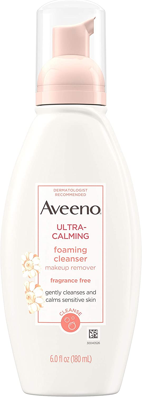 Aveeno Ultra-Calming FoamingCleanser For Sensitive Skin, 6 Fl. oz.