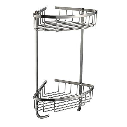 Sayayo 2-Tier Shower Basket Bathroom Basket Shower Organiser SUS 304 Stainless Steel Polished Finished EG7162