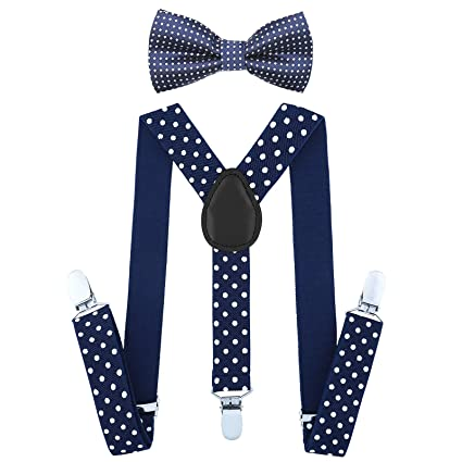 929c6bb5e Kids Boy Suspenders Bowtie Set - Adjustable Child Suspender for Toddler and  Girls