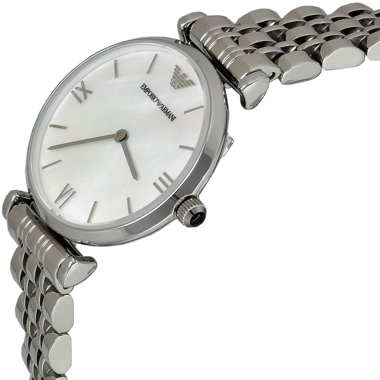 beabf97c56bb Emporio Armani Reloj Análogo clásico para Mujer de Cuarzo con Correa en  Ninguno AR1682  Amazon.es  Relojes