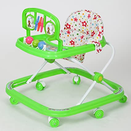 9d2c355d559 Buy Dash Classic Baby Walker with Rattles and Hanging Toys (Green) Online  at Low Prices in India - Amazon.in