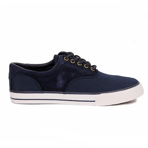 Polo Ralph Lauren - Zapatillas para Hombre Azul Azul 43: Amazon.es: Zapatos y complementos