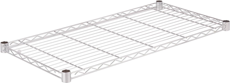 Honey-Can-Do SHF350C1836 Steel Wire Shelf for Urban Shelving Units, 350lbs Capacity, Chrome, 18Lx36W