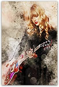 Taylor Swift Poster for Walls Taylor Swift Pop Art Canvas Painting for Girls Room Wall Decor Taylor Swift Oil Painting on Canvas Taylor Swift Magazine Wall Poster Print for Bedroom Gift Decor No Frame