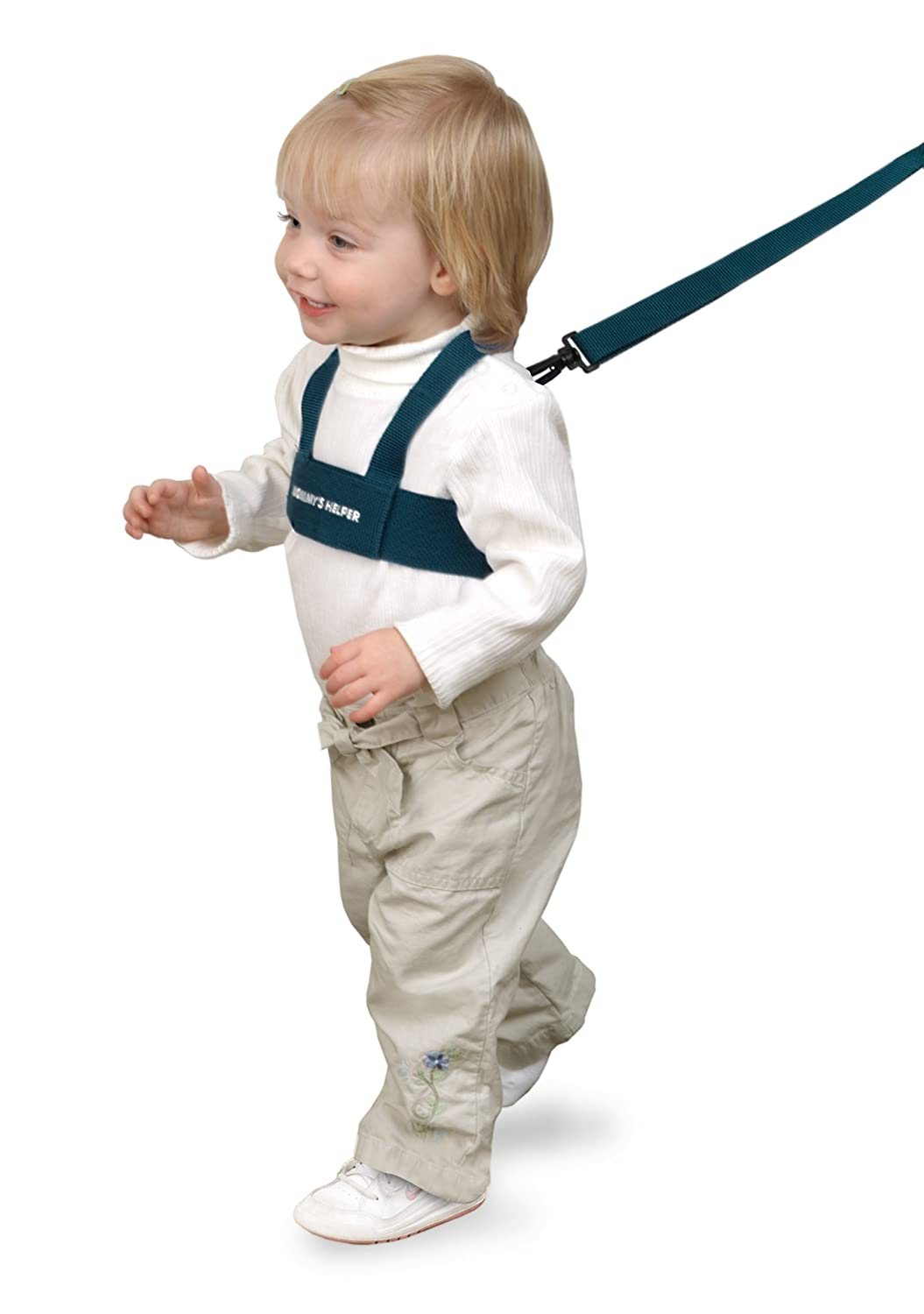B00081L2SU Toddler Leash & Harness for Child Safety - Keep Kids & Babies Close - Padded Shoulder Straps for Children's Comfort - Fits Toddlers w/ Chest Size 14-25 Inches - Kid Keeper by Mommy's Helper (Blue) 71WjsjuQfZL