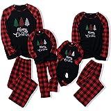 Haokaini Pijamas de Navidad Familiares Conjuntos de Pijamas de Navidad Rojos para Padres Niño Bebé