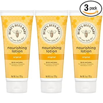 3bf7d79d929 Image Unavailable. Image not available for. Color  Burt s Bees Baby  Nourishing Lotion ...