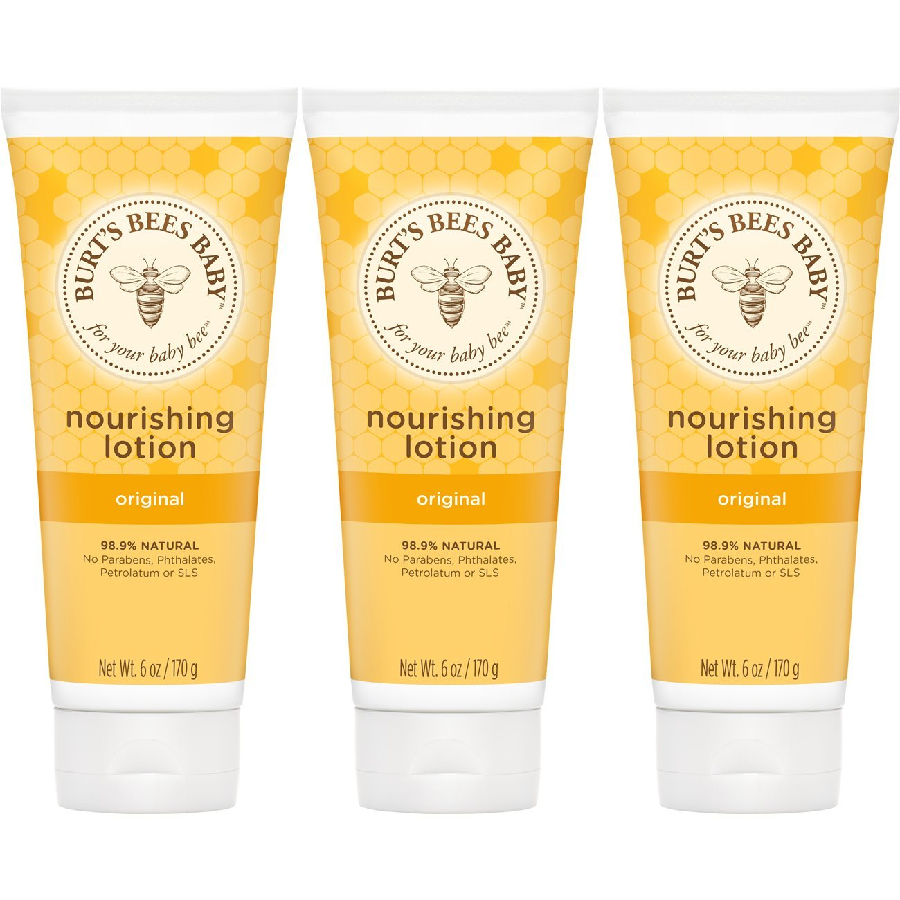 Burt's Bees Baby Nourishing Lotion, Original, 6 Ounces (Packaging May Vary)