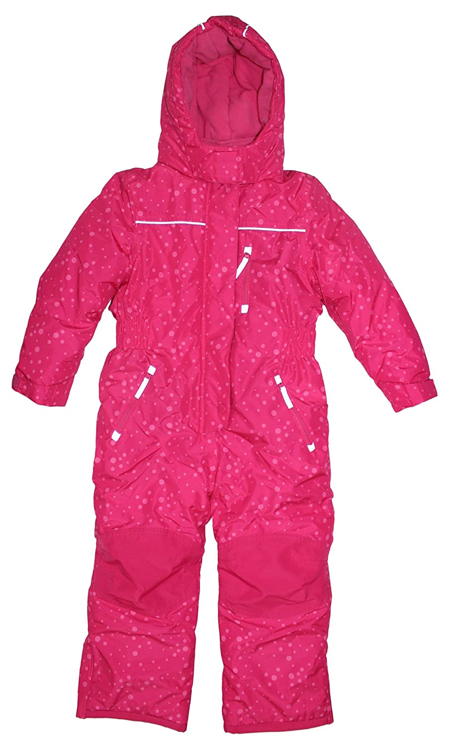 xiangye Little Girls and Toddler 1 Piece Pink Snowsuit Coveralls Snow Wear Sport Suit