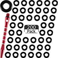 200 Pieces Dart Shaft O-Rings Rubber Dart Washer Rings Non-Slip Dart Rod Ring to Keep Shafts Tight