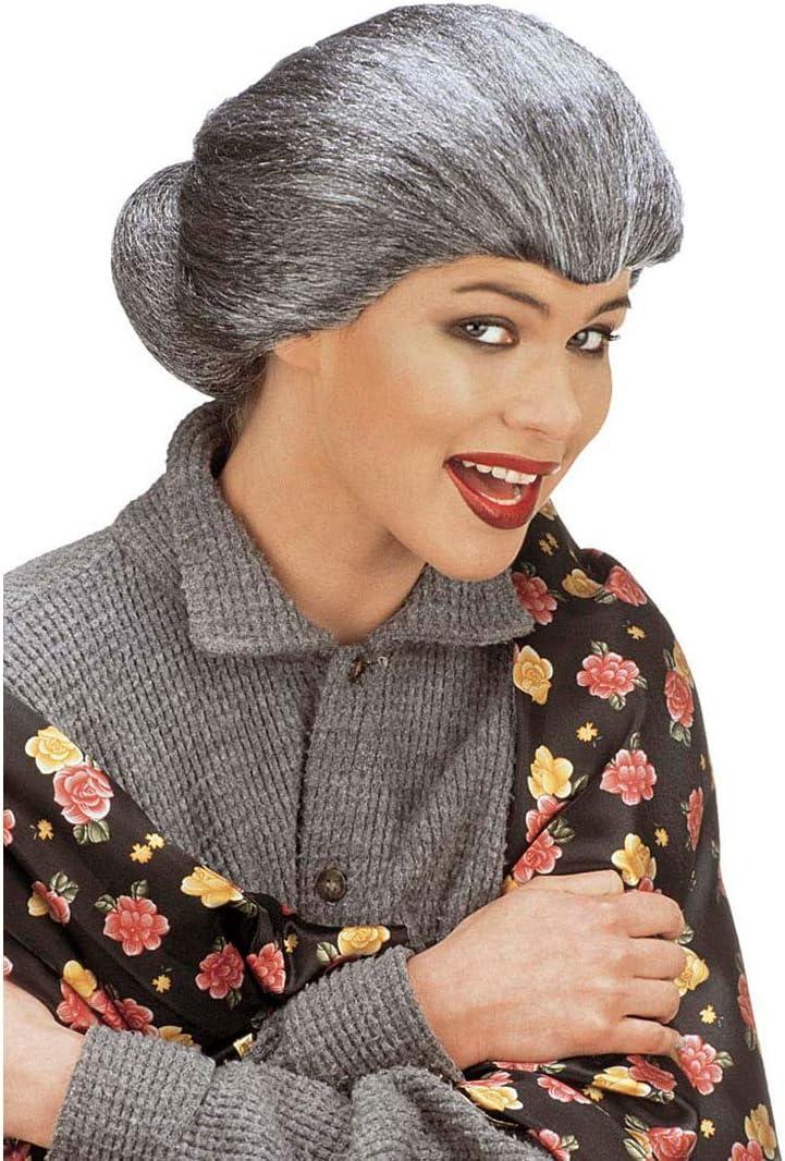 Gris Tante Mary peluca con trenzado Abuela Bruja peluca Abuela ...