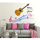 Wallstick 'When World Fail, Music Speak' Wall Sticker (Vinyl, 49 cm x 4 cm x 4 cm)