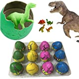 Super Large Size - 12pcs Crack Easter Dinosaur Eggs Hatching Toy Growing Pet with Mini Toy Dinosaur Figures Inside
