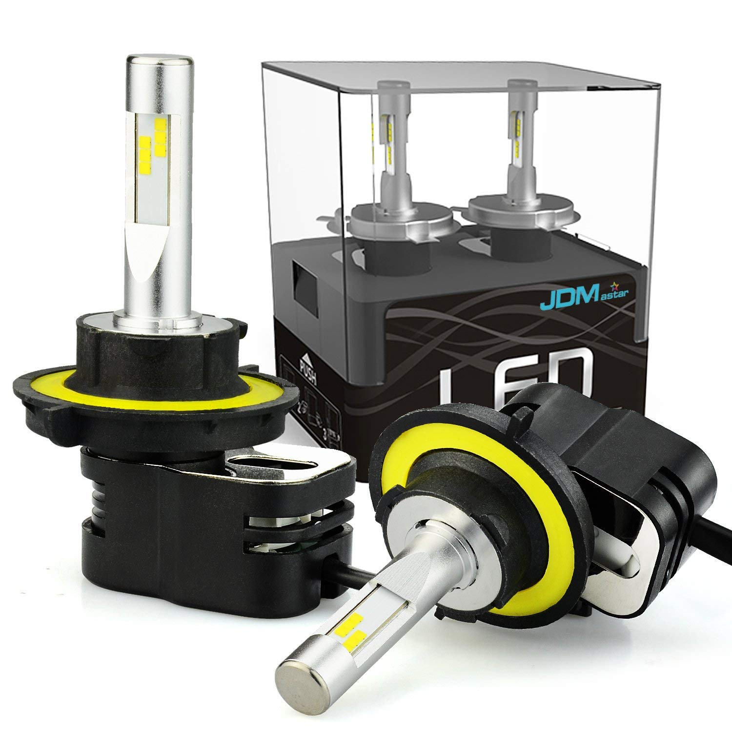 Xenon White JDM ASTAR Mini Design 10000 Lumens Extremely Bright H11 H8 H16 All-in-One LED Headlight Bulbs Conversion Kit for Limit Space with an Adjustable Light Angel