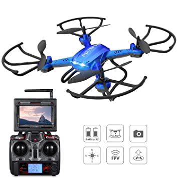 Drone Potensic con Altitud Hold, CámaraHD 2MP, WIFI FPV 5.8GHz 4CH ...