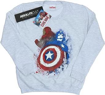Marvel mujer Captain America Civil War Painted vs Iron Man Camisa de entrenamiento: Amazon.es: Ropa y accesorios