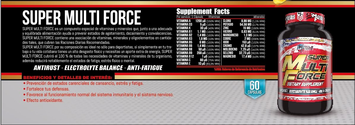 Super Multi Force Multivitaminico 60 capsulas: Amazon.es: Salud y cuidado personal