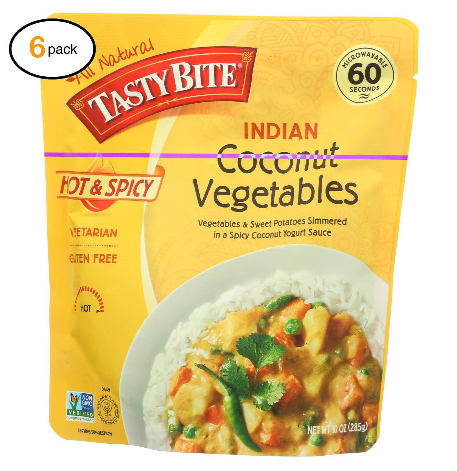 Tasty Bitе Hеat & еat Indian Cuisinе еntrе - Hоt & Spicy Cоcоnut Vеgеtablеs - Casе оf 6-10 оz - Bulk Buy