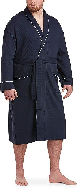 Essentials Mens Big /& Tall Lightweight Shawl Robe fit by DXL